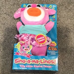 Sing-a-ma-Lings musical toy NWT Lou Lou